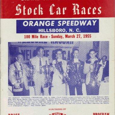 Orange Speedway 1955