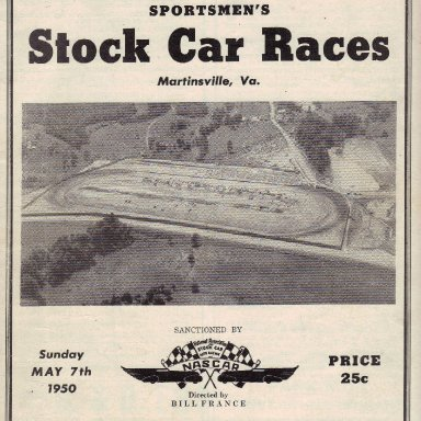 Martinsville Speedway 1950