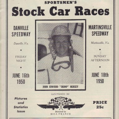 Danville and Martinsville Speedways 1950