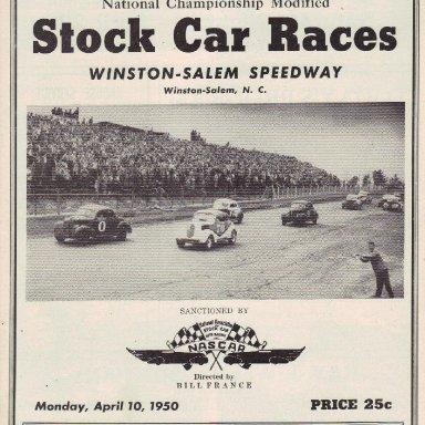 Winston-Salem Speedway 1950