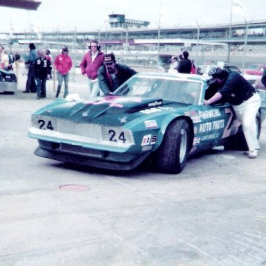 Eddie Hawkins super speedway car
