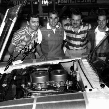 57 Mercury Team Tim Flock, Bill Myers, Fonty Flock & Jim Paschal