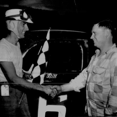 Bill Myers with car owner Calvin Wooten