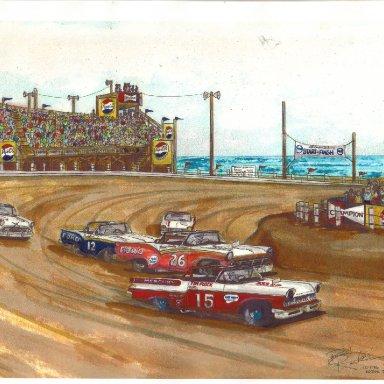 North Turn 1957 artwork