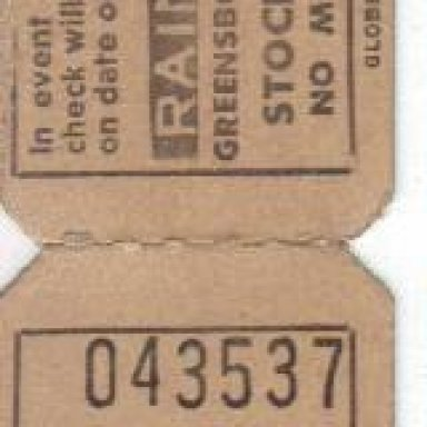 Greensboro Fairgrounds Ticket Stubs