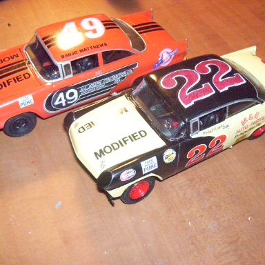 The Modified Ford's of Banjo Matthews and Fireball Roberts