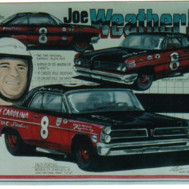 Joe Weatherly Pontiac artwork