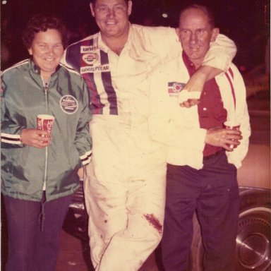 Esther and Eddie Macdonald with Tiny Lund
