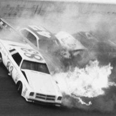 Ramo Stott 1975 Winston Cup Crash