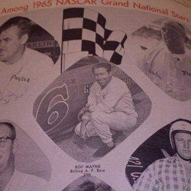 #1 Roy Elwood Mayne - (early issue) 1966 NASCAR Magazine and Official Race Program