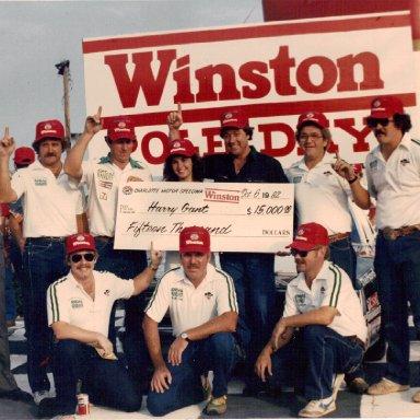 Harry Gant Pole win '82