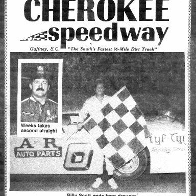 Billy Scott - Ricky Weeks Cherokee Speedway 1986