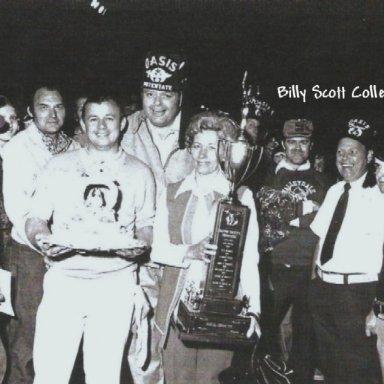 Billy & Barbara Scott Carolina Speedway 1970s'