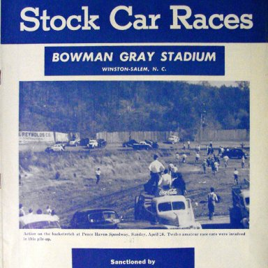 Peace Haven Speedway - Cover Photo BGS Program