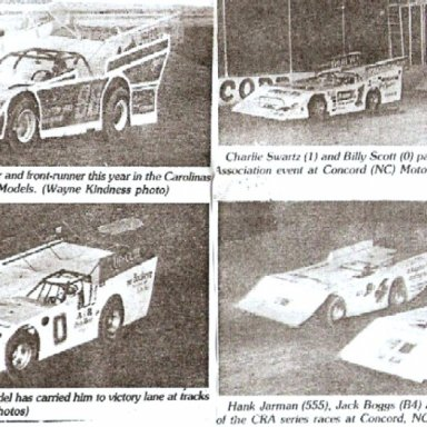 BILLY SCOTT WINS $10,000 AT NEW CONCORD SPEEDWAY IN THE 1980S'