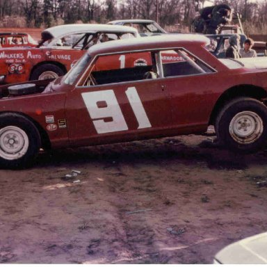 91 Billy Owens on wrecker at Charleston SC Speedway 1972
