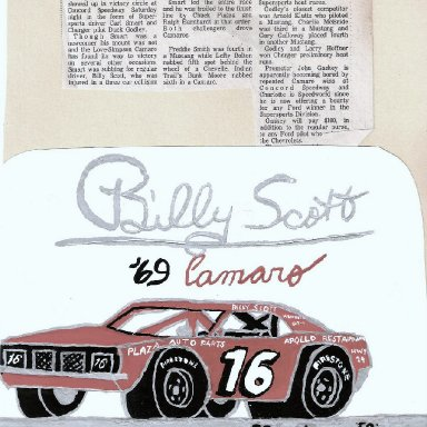 Billy Scott Drawing by Herman Shimpock, Jr
