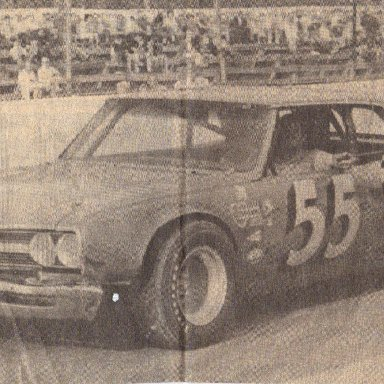 Bob Pressley taking a victory at New Asheville Speedway in 1970