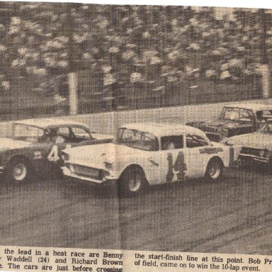Hickory heat race in 1970
