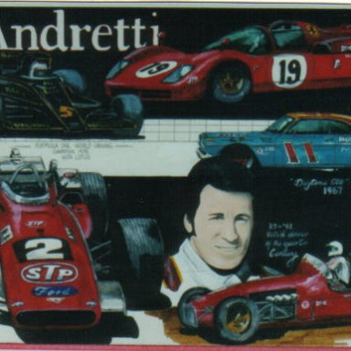 Mario Andretti artwork