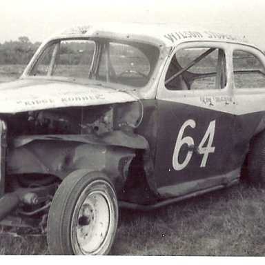 "Roy Mayne's car he raced in late ""50"""