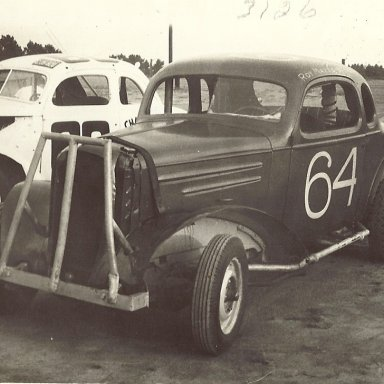 "Roy Mayne's race car he raced in late ""50"""