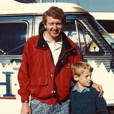 Bill Elliott & my son Eddie Jr