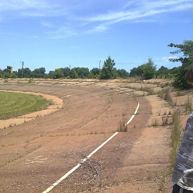 LOOKING DOWN FRONT STRETCH