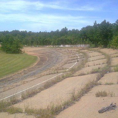 TURN ONE AND END OF GRANDSTAND