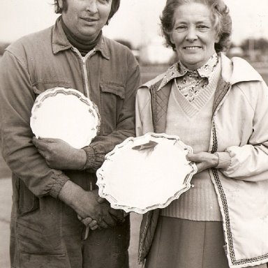 Alan Cazier with my nan at Wisbech.