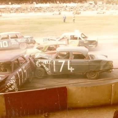 Bangers at Ipswich on the home straight.