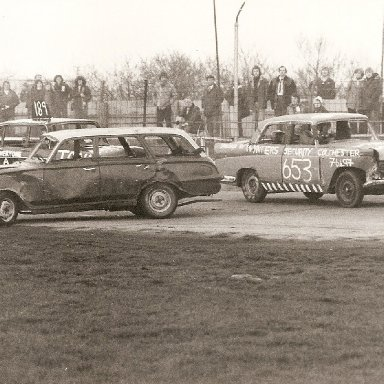 Bangers on the back straight at Wisbech