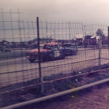 Stock car action at Wisbech 70's
