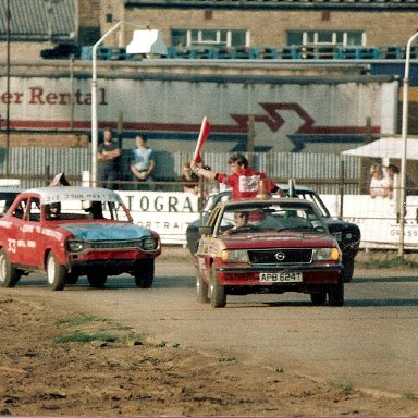 The old Cortina pace car has been replaced by an Opel.