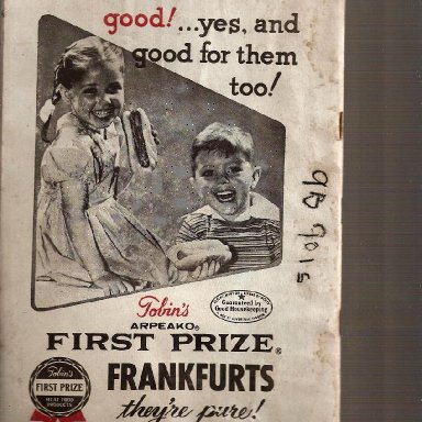 ransomville speedway 1962 back ad on program