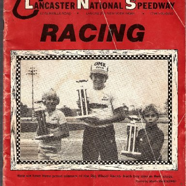 LANCASTER NATIONAL SPEEDWAY PROGRAM COVER