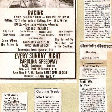 Billy Scott At Carolina Speedway '70's