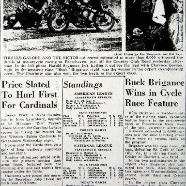 Peace Haven Speedway - Buck Brigance 1946