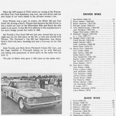 1978 Wisconsin State Fair Race Winners List