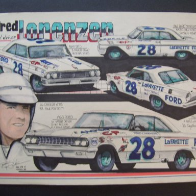 Fred Lorenzen art work