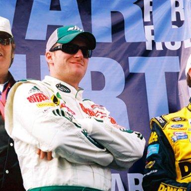 Lee Roy Mercer, Dale Earnhardt, Jr., & Matt Kenseth