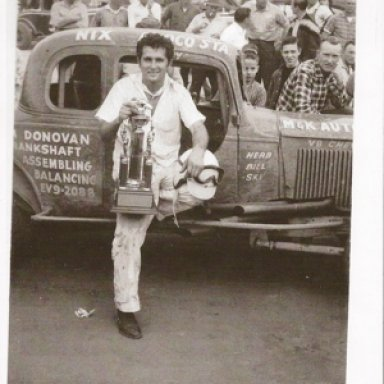 Leeroy Yarbrough With 1960 trophy