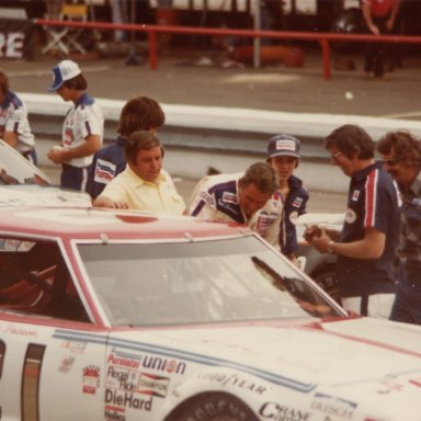 David Pearson climbs into the 21 for the last time