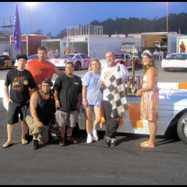 victory lane @ Orange County Speedway