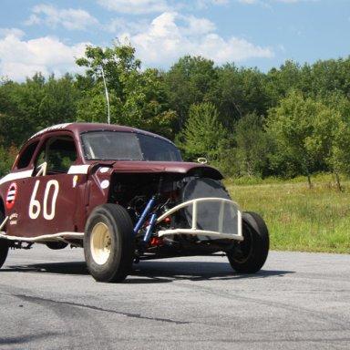 vintage track and racecar