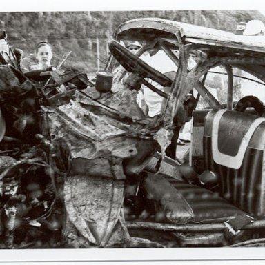 Lee Petty wreck Daytona