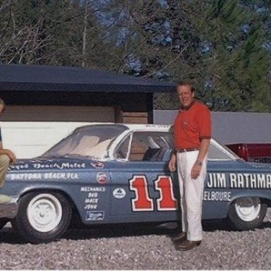 Me and Ned Jarrett with my build of his '62 season Chevy