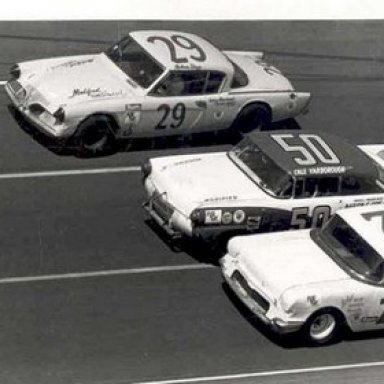 Bobby Johns, Cale Yarborough and Nelson Stacy