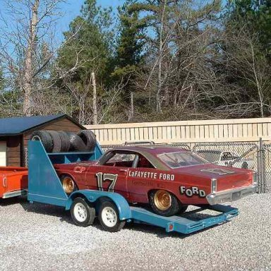 My build of David Pearson's '67 Fairlane loaded up behind my shop