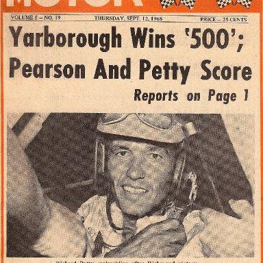 Southern MotoRacing September 12, 1968